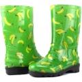 Д14-ЦБананы зеленые/Детские резиновые сапоги